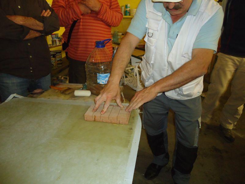 colocando sandwich pvc